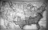 1861 map of the United States of America