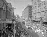 1939 Battle of Flowers parade on Broadway