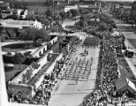 1937 Battle of Flowers Parade moves down Alamo Plaza.