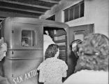 1937 San Antonio Laundry Strike - women getting into company truck