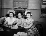 (L to R) Mrs. Jesse Benavides, general chairman of the Pan American League charity dance, Mrs....