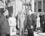(Left to right) Ambassador Edward Clark, Nellie Connally, Governor John Connally, and Henry Ford...