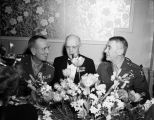 (L to R) Gen. Jonathan M. Wainwright, Lt. Gen. Herbert J. Brees (USA. Ret), and Gen. Walter...